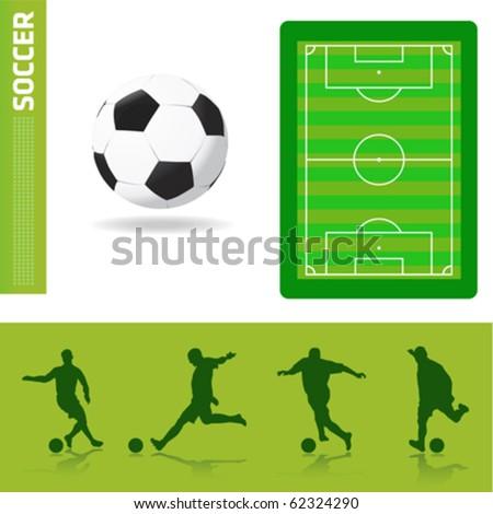 soccer design elements - stock vector