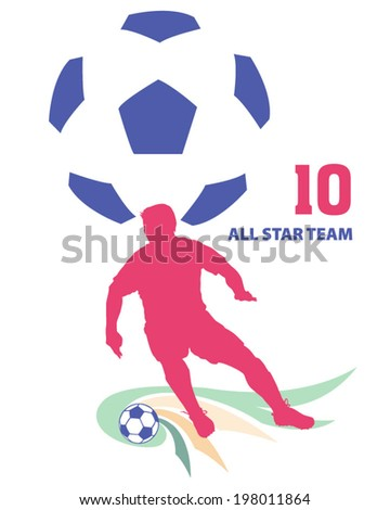 Soccer design in vector for shirt, card or media - stock vector
