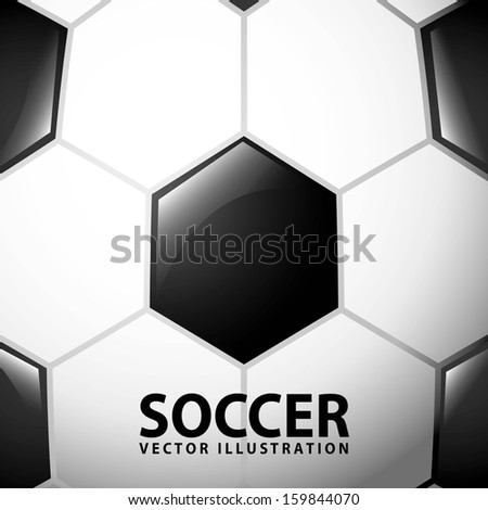 soccer design over ball  background  vector illustration - stock vector