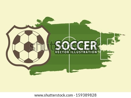 soccer design over cream background  vector illustration - stock vector