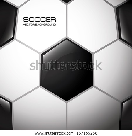 soccer design over pattern background  vector illustration - stock vector