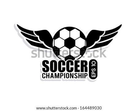 soccer design over  white  background  vector illustration - stock vector