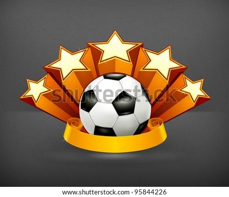 Soccer Emblem, vector - stock vector
