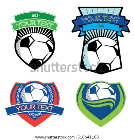 Soccer emblems on isolated background