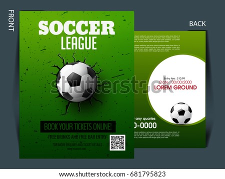 Soccer Event Flyer Template Eps 10 Football Stock Photo Photo