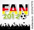 Soccer Fan 2012 - stock vector