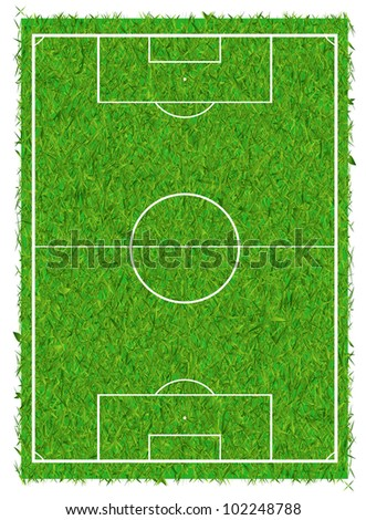 Soccer field - stock vector