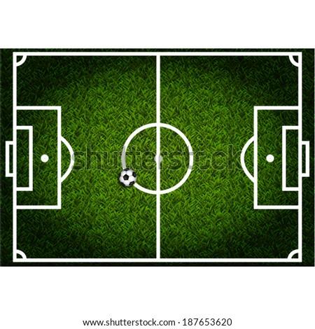 Soccer field - stock vector