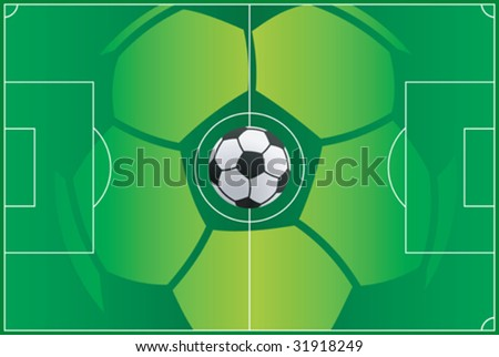 Soccer field background vector illustration - stock vector