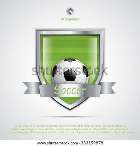 Soccer field emblem.Vector - stock vector