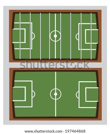 soccer field or football field . a table football  - stock vector