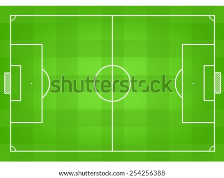 soccer field or football field vector top view - stock vector