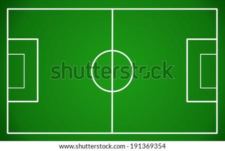 Soccer field, vector illustration - stock vector