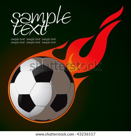 Soccer Fire Ball 2 Vector Drawing - stock vector