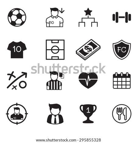 Soccer / football club vector buttons set  - stock vector
