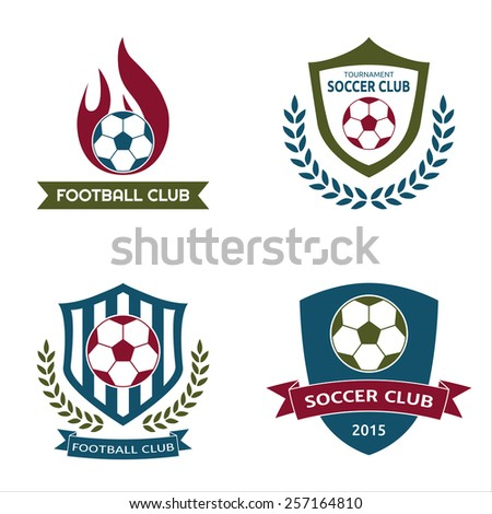 Soccer football crests logo emblems - stock vector