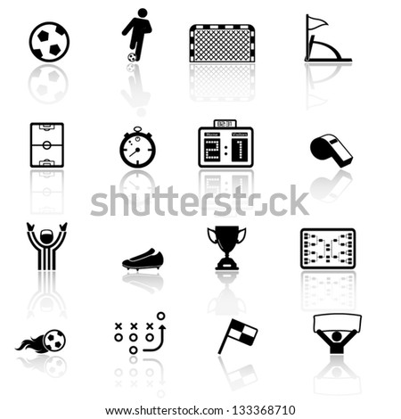 Soccer, football icons - stock vector