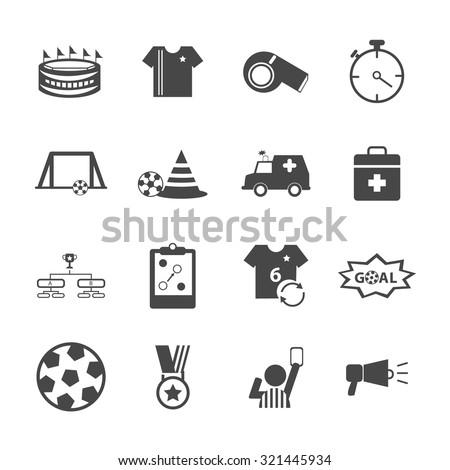 Soccer Football icons set. Vector Illustration eps10  - stock vector