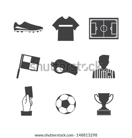 Soccer football icons vector eps10 - stock vector