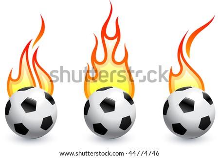 Soccer (football) on fire Original Vector Illustration AI8 Compatible - stock vector