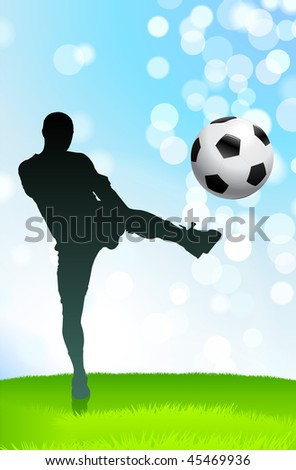 Soccer/Football Player Original Vector Illustration