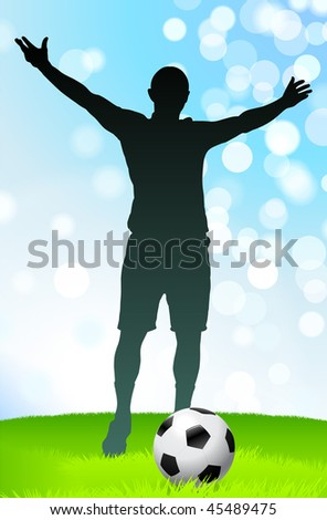 Soccer/Football Player Original Vector Illustration EPS10