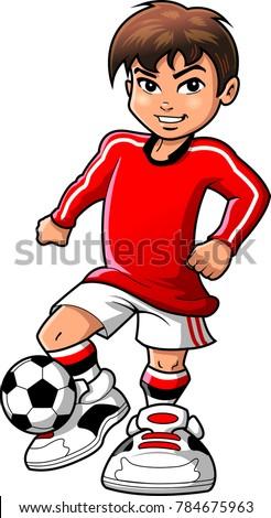 soccer football player teen boy sports stock vector 784675963 rh shutterstock com cartoon football player clipart football player clipart silhouette