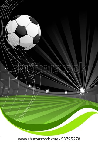 soccer game background with space for text - stock vector