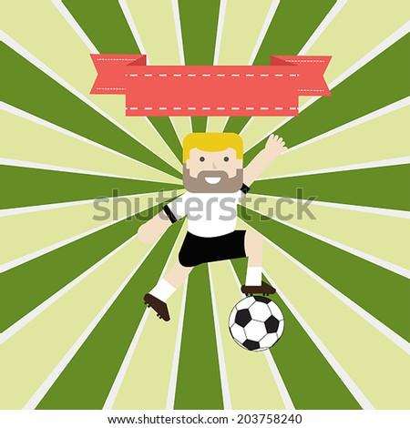 Soccer Germany, vector illustration template design. - stock vector