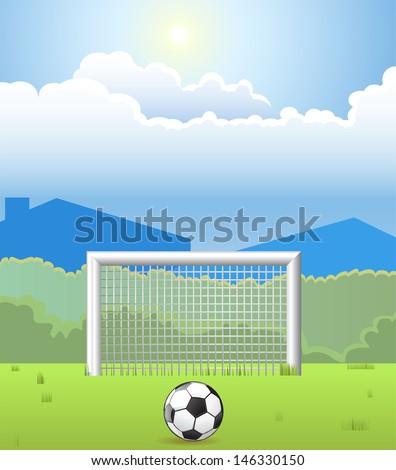 Soccer Goal - stock vector
