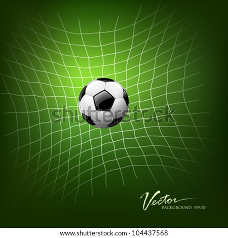 Soccer Goal, vector illustration - stock vector