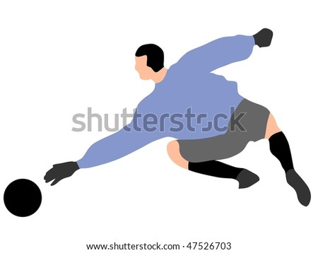 soccer goalkeeper - stock vector