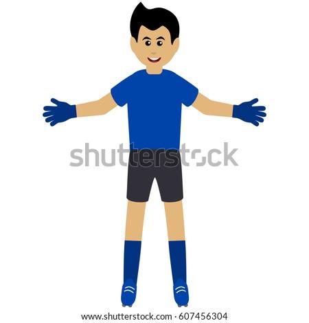 how to draw a soccer goalie cartoon