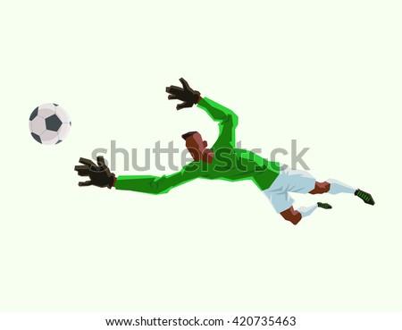 Girl soccer goalie silhouette