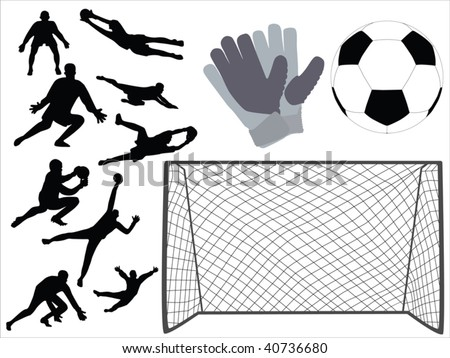 soccer goalkeeper vector - stock vector