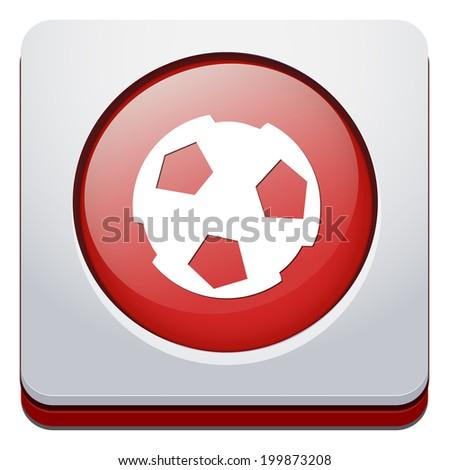 soccer icon - stock vector