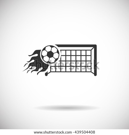 Soccer Icon - football fire goal  silhouette vector