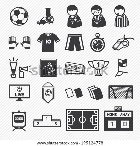 soccer icons set. illustration eps10 - stock vector