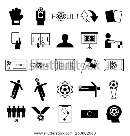 Soccer icons set vector illustration - stock vector