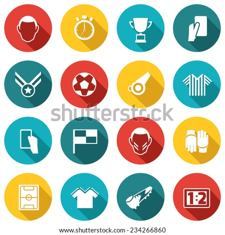 Soccer icons white set with football match competition training isolated vector illustration - stock vector