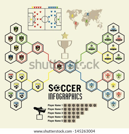 Infographic Ideas infographic soccer : Soccer Infographic Vector Illustration Stock Vector 145263004 ...