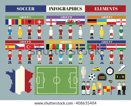 Soccer Infographics elements