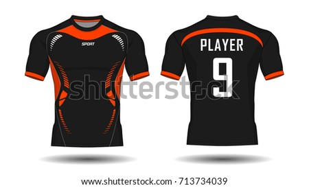 Soccer jersey template black layout football stock vector soccer jersey templated and black layout football sport t shirt design template pronofoot35fo Choice Image