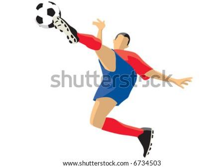 Soccer Kick - stock vector