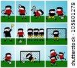 Soccer Kids Vector Illustration - stock vector