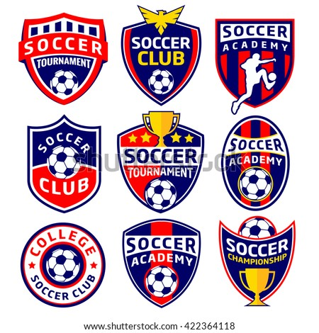 Soccer Labels - stock vector