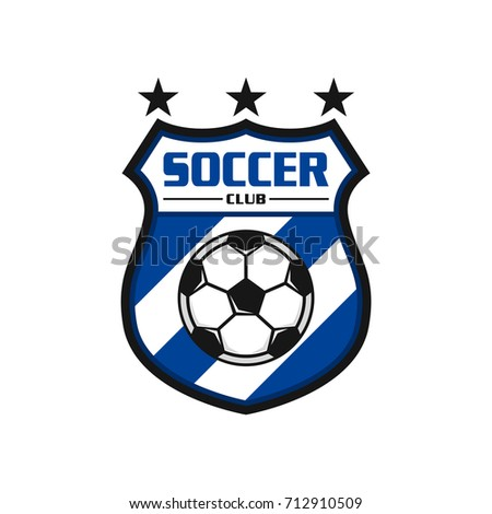 soccer logo design vector stock vector royalty free 712910509