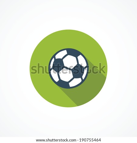 Soccer modern flat icon - stock vector