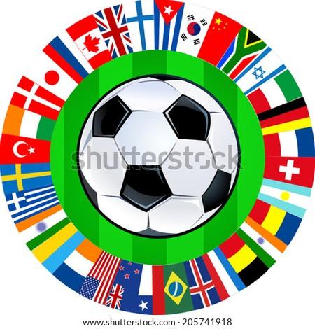 soccer mundial - stock vector