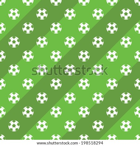 Soccer or football field background vector - stock vector